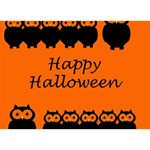 Happy Halloween - owls WORK HARD 3D Greeting Card (7x5) Back