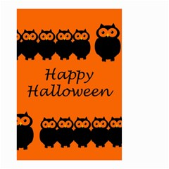 Happy Halloween   Owls Small Garden Flag (two Sides)