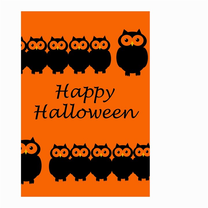 Happy Halloween - owls Small Garden Flag (Two Sides)