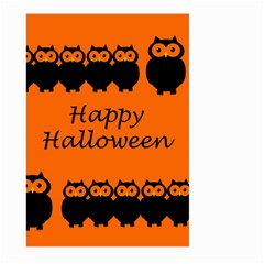 Happy Halloween   Owls Large Garden Flag (two Sides)