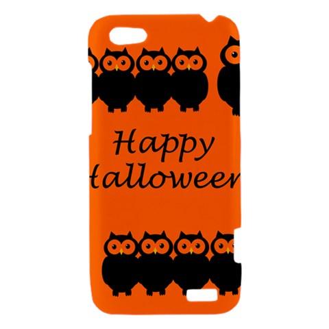 Happy Halloween - owls HTC One V Hardshell Case