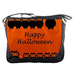 Happy Halloween - owls Messenger Bags