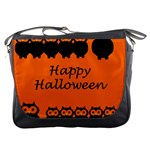Happy Halloween - owls Messenger Bags Front