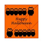 Happy Halloween - owls Acrylic Tangram Puzzle (6  x 6 ) Front