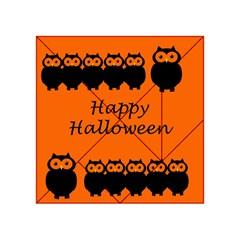 Happy Halloween - owls Acrylic Tangram Puzzle (4  x 4 )