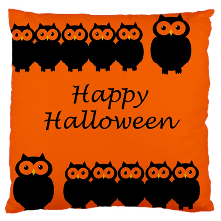 Happy Halloween - owls Large Cushion Case (Two Sides)