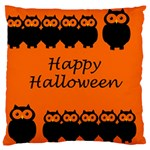 Happy Halloween - owls Large Cushion Case (Two Sides) Back