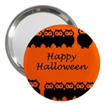 Happy Halloween - owls 3  Handbag Mirrors Front