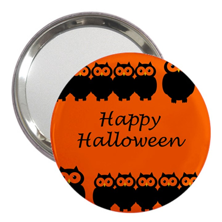 Happy Halloween - owls 3  Handbag Mirrors