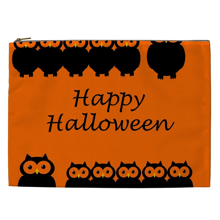 Happy Halloween - owls Cosmetic Bag (XXL)