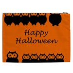 Happy Halloween - owls Cosmetic Bag (XXL)  Back