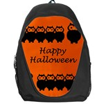 Happy Halloween - owls Backpack Bag Front