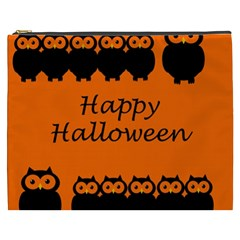Happy Halloween   Owls Cosmetic Bag (xxxl)