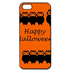 Happy Halloween   Owls Apple Iphone 5 Seamless Case (black)