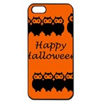 Happy Halloween - owls Apple iPhone 5 Seamless Case (Black) Front