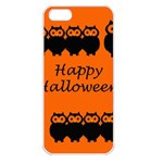 Happy Halloween - owls Apple iPhone 5 Seamless Case (White) Front