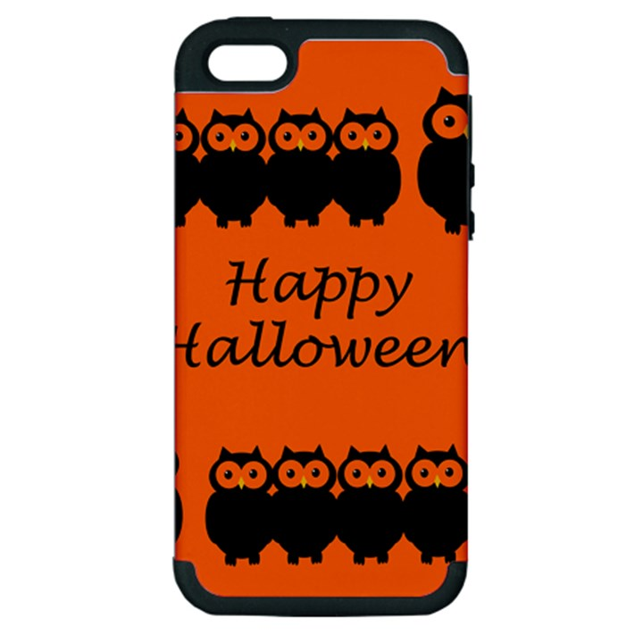 Happy Halloween - owls Apple iPhone 5 Hardshell Case (PC+Silicone)