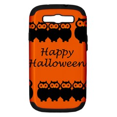 Happy Halloween   Owls Samsung Galaxy S Iii Hardshell Case (pc+silicone)