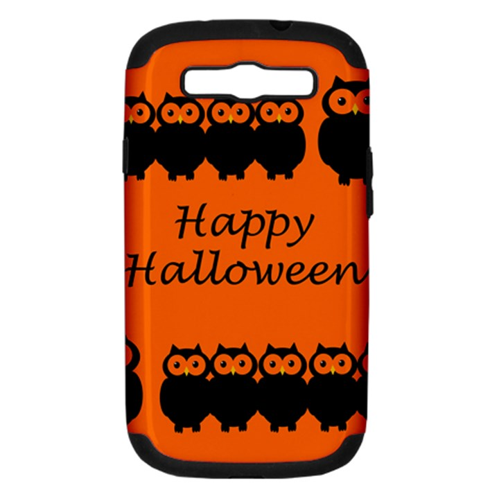 Happy Halloween - owls Samsung Galaxy S III Hardshell Case (PC+Silicone)