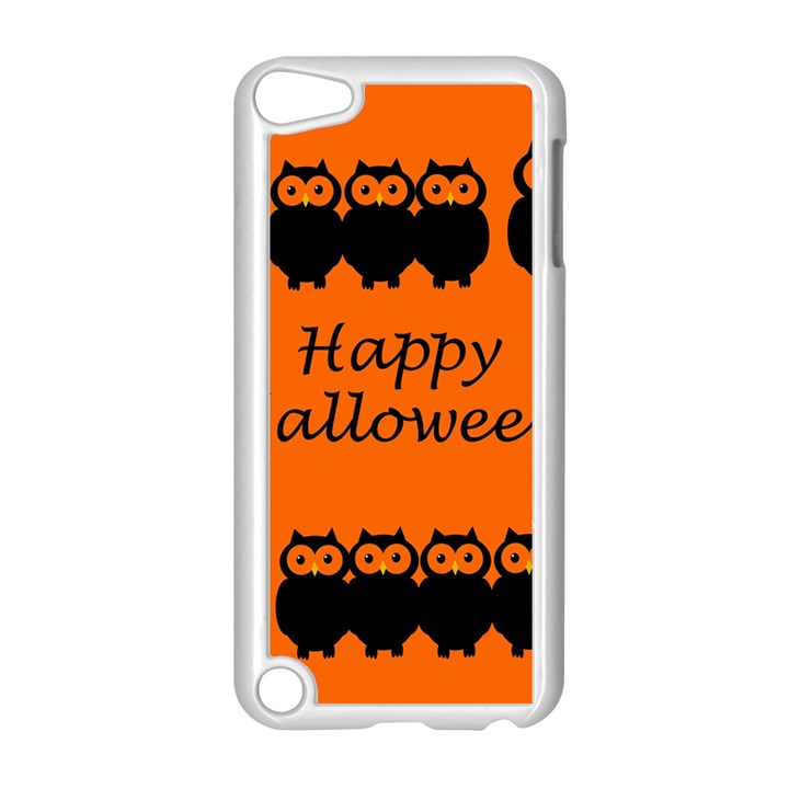 Happy Halloween - owls Apple iPod Touch 5 Case (White)