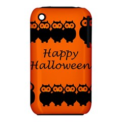 Happy Halloween   Owls Apple Iphone 3g/3gs Hardshell Case (pc+silicone)