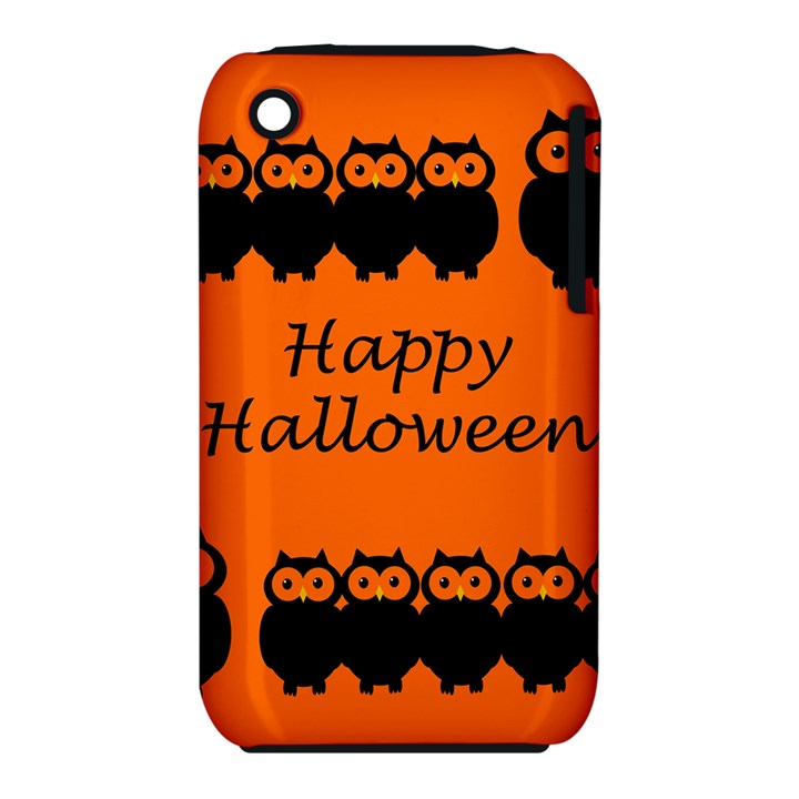 Happy Halloween - owls Apple iPhone 3G/3GS Hardshell Case (PC+Silicone)