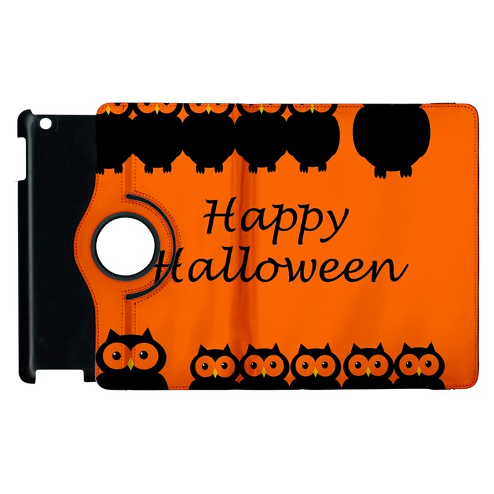 Happy Halloween - owls Apple iPad 3/4 Flip 360 Case