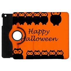 Happy Halloween - owls Apple iPad Mini Flip 360 Case