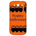 Happy Halloween - owls Samsung Galaxy S3 S III Classic Hardshell Back Case Front