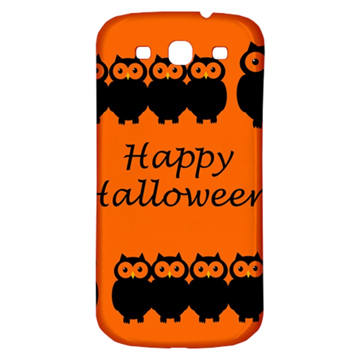 Happy Halloween - owls Samsung Galaxy S3 S III Classic Hardshell Back Case