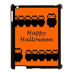 Happy Halloween - owls Apple iPad 3/4 Case (Black)