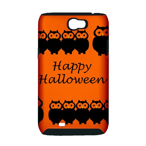 Happy Halloween - owls Samsung Galaxy Note 2 Hardshell Case (PC+Silicone)