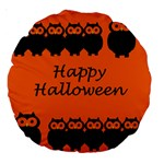 Happy Halloween - owls Large 18  Premium Round Cushions Back