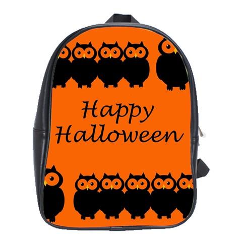 Happy Halloween - owls School Bags (XL)