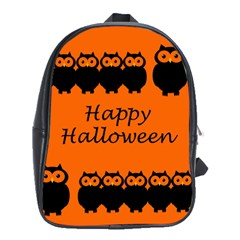 Happy Halloween   Owls School Bags (xl)