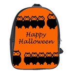 Happy Halloween - owls School Bags (XL)  Front