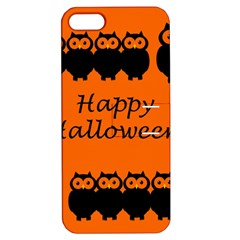 Happy Halloween   Owls Apple Iphone 5 Hardshell Case With Stand