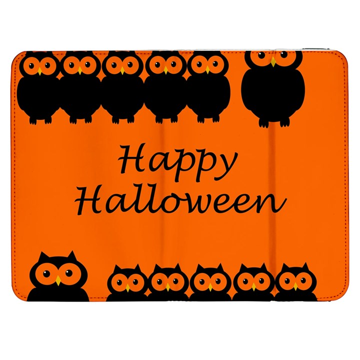 Happy Halloween - owls Samsung Galaxy Tab 7  P1000 Flip Case