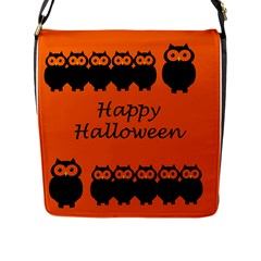 Happy Halloween - owls Flap Messenger Bag (L)