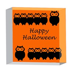 Happy Halloween - owls 5  x 5  Acrylic Photo Blocks