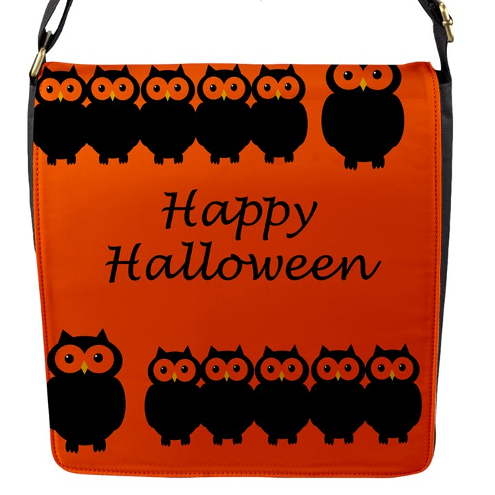Happy Halloween - owls Flap Messenger Bag (S)