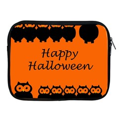 Happy Halloween   Owls Apple Ipad 2/3/4 Zipper Cases