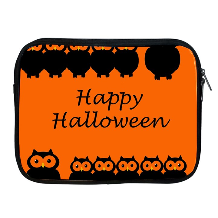 Happy Halloween - owls Apple iPad 2/3/4 Zipper Cases