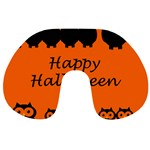 Happy Halloween - owls Travel Neck Pillows Back