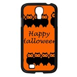 Happy Halloween - owls Samsung Galaxy S4 I9500/ I9505 Case (Black) Front