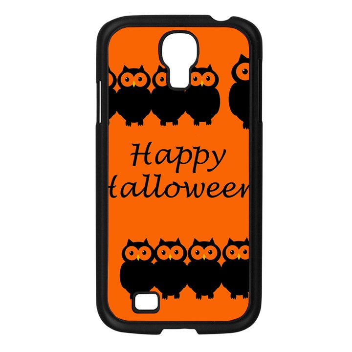 Happy Halloween - owls Samsung Galaxy S4 I9500/ I9505 Case (Black)