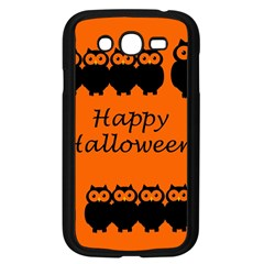 Happy Halloween   Owls Samsung Galaxy Grand Duos I9082 Case (black)