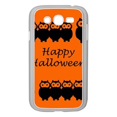 Happy Halloween   Owls Samsung Galaxy Grand Duos I9082 Case (white)