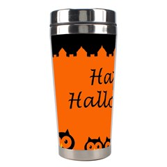 Happy Halloween   Owls Stainless Steel Travel Tumblers