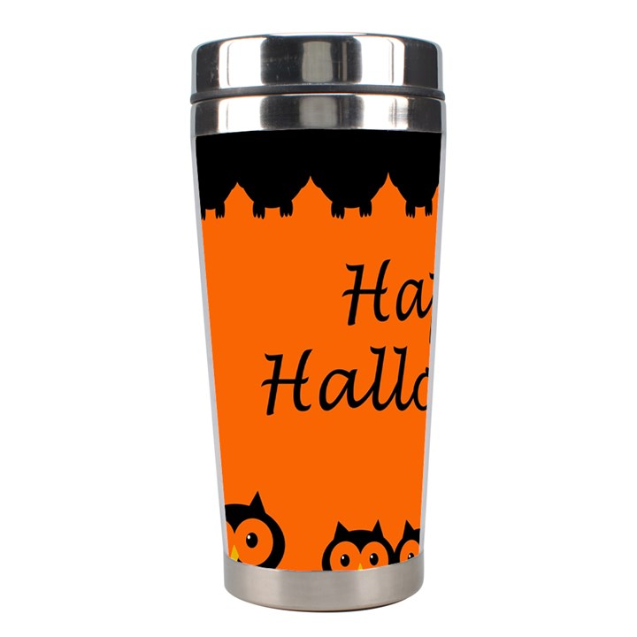 Happy Halloween - owls Stainless Steel Travel Tumblers
